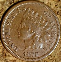 1879 Indian Head Cent - ATTRACTIVE VERY FINE, ROTATED REVERSE (K833)