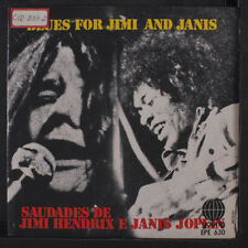 VARIOUS: Blues For Jimi And Janis 45 (Brazil, PS promo identation, toc)