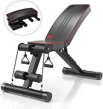 Adjustable Fitness Weight Bench Home Gym Strength Dumbbell Barbell Full Bod