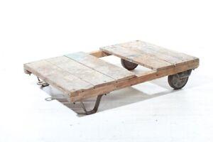 alte Rollpalette für Deichsel Rollwagen Palettenwagen Transportwagen Wagen