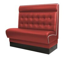 [417860] AMERICAN Gastro Sitzbank 120x110cm | Rot & Weiß | Chesterfield | Gastro