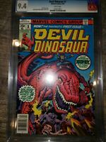 Devil Dinosaur #1 (Apr 1978, Marvel) cgc 9.4 Disney series coming soon!!