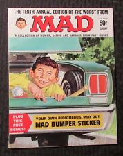 1967 MAD Magazine #10 Worst Annual VF 8.0 w/ Bumper Sticker