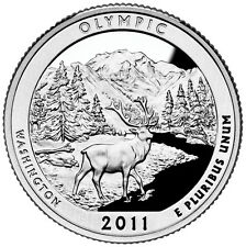 2011 S SILVER GEM PROOF OLYMPIC AMERICA THE BEAUTIFUL QUARTER 90% SILVER
