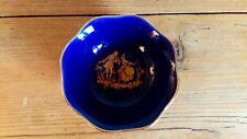 1980 S bleu/or Limoges bijou plat, très bon état