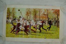 VINTAGE SIGNED PRINT THE FIRST FOOTBALL GAME NOV 6, 1869 - RUTGERS VS PRINCETON