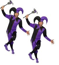 Halloween Adult Jester Costume Deluxe Medieval Jesters Fancy Dress Outfit