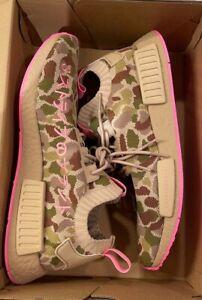 Adidas NMD R1 Primeknit Pink Duck Camo Shoes Men Size 9.5 Women Size 11 G57940