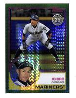 2018 Topps Chrome Silver Pack Ichiro 90/99 green refractor 1983 card Mariners