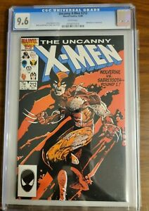 THE UNCANNY X-MEN 212 CGC 9.6 WHITE PAGES WOLVERINE vs SABRETOOTH MARVEL 1986