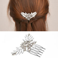 1pc STUNNING Bridal Wedding Crystal Rhinestones Diamante Vintage Hair Comb Clip