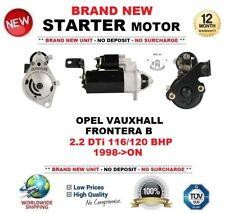 Per Vauxhall Opel Frontera B 2.2 DTI 116/120 CV 1998-ON Motore di Avviamento 2.0 KW 10 T