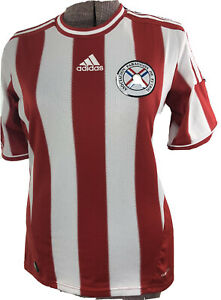 Adidas APF Mens Red White Paraguay Soccer Football Team Jersey Shirt Size Small