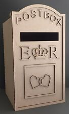 Y61 XXX-LARGE Wedding ROYAL MAIL LETTER Post Box Message MDF For Cards