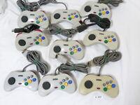 Fully Tested Lot of 9 Original  Sega Saturn Controller Pad White Japan #2927