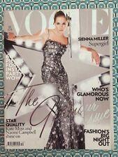 VOGUE British Dec 2007 Sienna Miller Kate Moss Naomi Campbell Sasha Pivovarosa