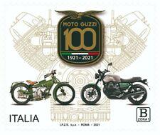 """FRANCOBOLLO ITALIA 2021 NUOVO """" Centenario della fondazione della MOTO GUZZI """""""