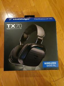 VOLTEDGE TX70 Wireless Gaming Headset for Playstation 4 with Flip-Down Chat Mic