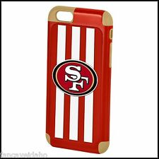 NFL San Francisco 49ers Apple iPhone 6 Dual Impact Hard+Rubber Hybrid Cover Case