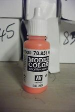 Modello Pittura 17ml Bottiglia Val835 Av Vallejo Model Color Painting Supplies Salmone Rosa Airbrushing Supplies
