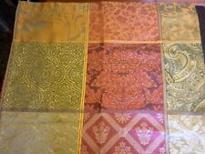"""Croscill Old World Fabric Shower Curtain 70""""x74"""" Patchwork Multi color New"""