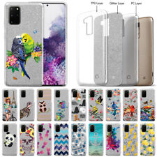 "For Samsung Galaxy S20+ Plus 6.7"" 2020 Silver Glitter Clear TPU Soft Cover Case"