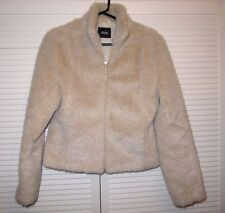 Pilot Light Biege Faux Fur Jacket UK12, ~REPARE TO LINING&LIGHT MARKS ON LINING~