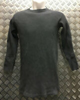 Genuine Swedish Army Cold Weather Ribbed Top Over-dyed Grey - Size Medium - NEW