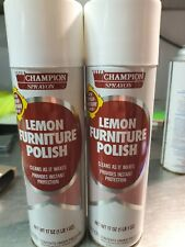 Champion Sprayon. Commercial quality.. Lemon Flavored Furniture Spray. Large17oz