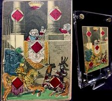 1833 1st American Transformation Antique Playing Cards Medieval Knights Single