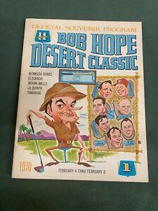 Vintage Bob Hope  Desert Classic Palm Springs Official Souvenir Program 1970