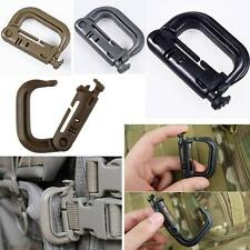 PVC Molle Tactical Hiking Clip Carabiner Locking D-Ring Hook Safety Buckle DJNG