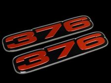 VMS 2 CHEVY 376 CI CUBIC INCH ENGINE HO SMALL BLOCK ALUMINUM EMBLEM RED BLACK