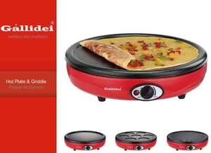 Large Crepe Maker & Electric Skillet Griddle with Pancake, Grill & Pikelet Tops