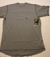 NWT ARIAT Shirt Short Sleeve S/S Men's Rebar 10019131 Heather Gray Pocket Crew