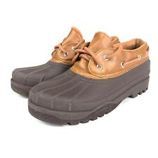 Sperry Top Sider Womens 10M Rain Shoes STS97710 Brown Heron Ankle Boots NonMark