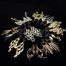 MIX 10 Stile Ohrhänger Ohrschmuck Hänger Vergoldet Metall Ohrringe Damenschmuck