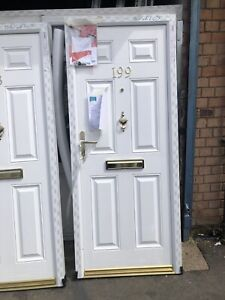 Brand New Composite Front Door - White Front & White Inside - 845 x 2030 Mm