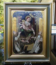 """Grand et apparat pleine porcelaine ICONE """"Madonna del Rosario""""!!!"""