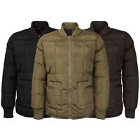 Men's Quilted Padded Heavyweight Stylish Puffer Bomber Jacket VAQ