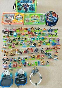 Huge Skylanders Bundle of Figures, Portals, 2 x Wii Sets with Games, Bags