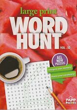 Brand New Large Print Word Hunt Finds Papp Puzzle Fast Free Shipping Volume 50