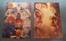 "1993 X-Men PIZZA HUT ""Complete Set"" of 2 VIDEO Promo Cards (NO#'s)"