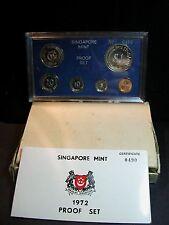S-92: RARE Singapore 1972 PROOF Set,c/w Cert, No 0490 of 749, white box