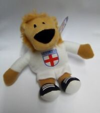 England six nations rugby Football Lion Soft Toy white England Shirt free UK p&p