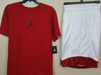 NIKE JORDAN XI RETRO 11 JUMPMAN OUTFIT SHIRT + SHORTS RED WHITE RARE (SIZE 2XL)