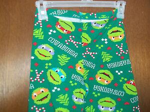 TMNT Ninja Turtles Christmas Cowabanga  Leggings  Juniors NWT sz M-