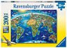 NEW Ravensburger World Landmarks Map XXL 200pc Jigsaw Puzzle 2722