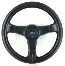 Genuine OEM Ford RS Sierra Cosworth black leather steering wheel. Sapphire  15E