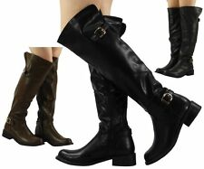 Knee High Boots Cuban Low Heel (0.5-1.5 in.) Shoes for Women